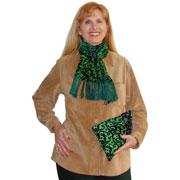 Silk Cut Velvet Scarf and Bag Tutorial