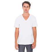Fine Jersey S/S V-Neck T-Shirt (Unisex)