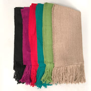 Bolivian Handwoven Alpaca Shawl (Colored)