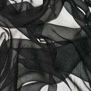 """Black Silk Gauze 45"""""""