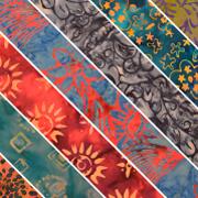 "Limited Edition Colored Batik Fabric 42"""
