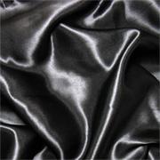"Black 12mm Charmeuse/Silk Crepe Satin 45"""