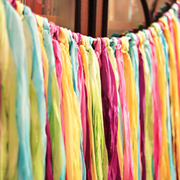 Ombre Dyed Streamer Garland - A Lil Blue Boo Tutorial