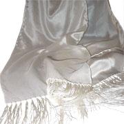 Flat Crepe w/ Fringe Scarves