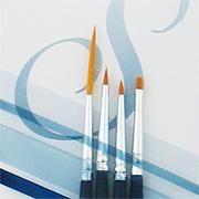 Sterling Studio Golden Taklon 4 Brush Sets