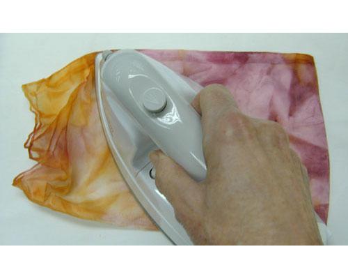 Iron to heat-set the paint