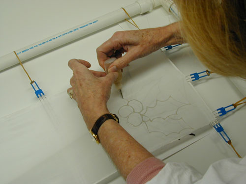 Trace and follow your design or make it up as you go!