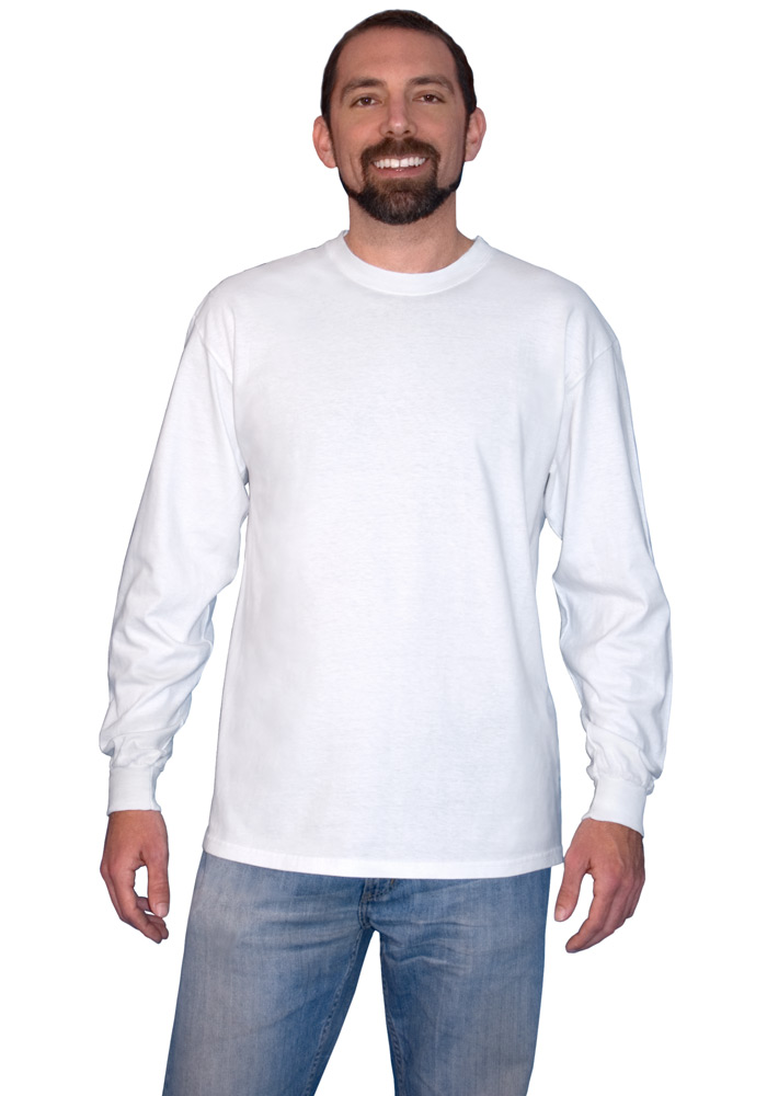 d2602411a989f3 Hanes 6.1 oz Beefy-T Long Sleeve