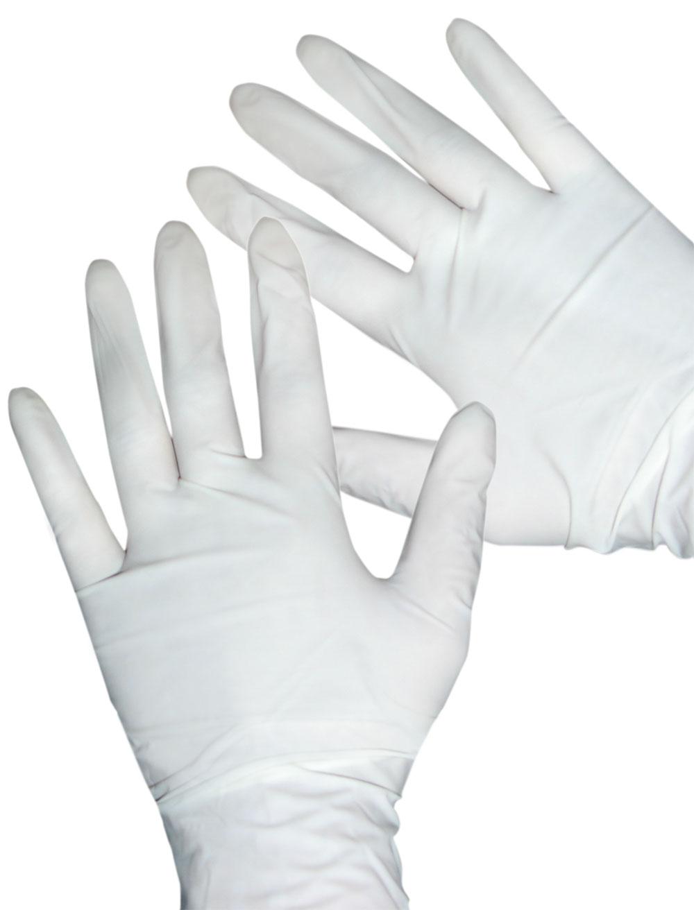 short rubber gloves