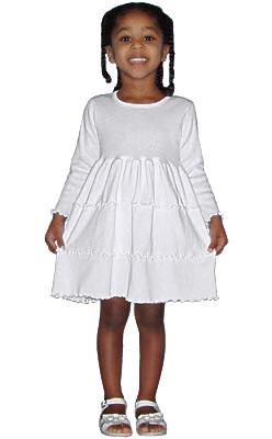 3 Tier Ruffle Dress - Long Sleeve