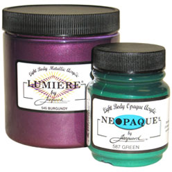 Lumiere and Neopaque Fabric Paint