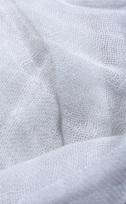100% White Handwoven Rayon