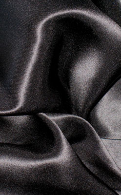 "Black 19.5mm Charmeuse/Silk Crepe Satin 45"""
