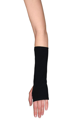 Black Cotton Spandex Wrist and Arm Warmers