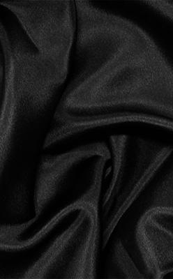 "Black Silk Habotai 8mm 45"""