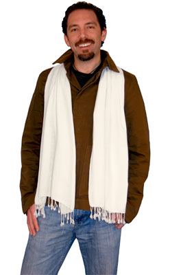 Handwoven Rayon Scarves with Twisted Fringe