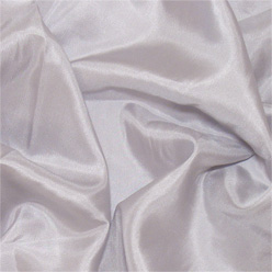 "Silver Gray Silk Habotai 8mm 45"""