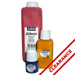 Discontinued Setacolor Light Fabrics, Fluorescent & Glitter Colors