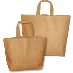 Jute Beach Bag with Cotton Lining - Natural