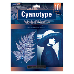 Jacquard Cyanotype Pretreated Fabric Sheets