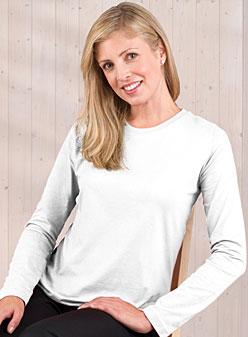 Ladies Jersey Long Sleeve T-shirt (Feminine Fit Softee Long Sleeved #FFSLS)