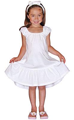 Puff Sleeve Single Flounce Dress
