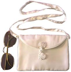 Silk Charmeuse Shoulder Bag