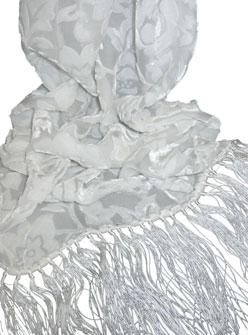 Silk Cut Velvet Scarves with Fringe