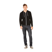 BELLA UNISEX POLYCOTTON FLEECE FULL ZIP HOODIE