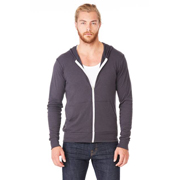 BELLA UNISEX TRIBLEND FULL ZIP LIGHTWEIGHT HOODIE