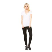 BELLA LADIES TRIBLEND DEEP V-NECK TEE