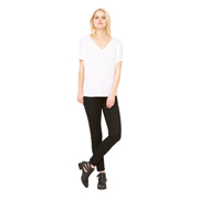 BELLA LADIES SLOUCHY V-NECK TEE