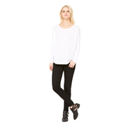 BELLA LADIES FLOWY LONG SLEEVE TEE WITH 2X1 SLEEVES