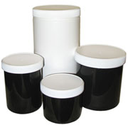 Plastic Storage Jars & Lids