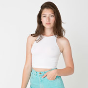 Cotton Spandex Jersey Sleeveless Crop Top