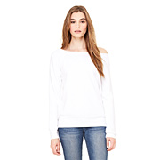BELLA FLEECE SLOUCHY WIDENECK - White