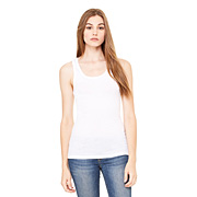BELLA SHEER MINI RIB LONGER LENGTH TANK