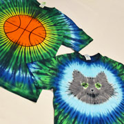 Cat and Basketball Tie-Dye Tutorial