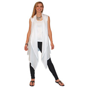 Sleeveless Waterfall Vest