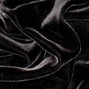 "Black Silk/Rayon Velvet 45"""