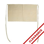 Cotton Canvas Apron With White Ties