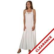 Rayon Cutwork Ribbon Strap Dress