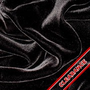 "Flawed Black Silk/Rayon Velvet 45"""