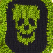Fluorescent Skull Cameo Brooch