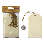 Hang Tag With Jute Cord - 12pk