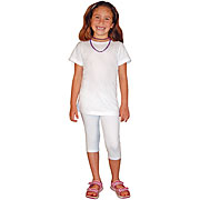 Kids Capri Cotton/Spandex Leggings
