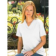 Ladies Jersey V-neck T-shirt (Feminine Fit Softee V-Neck #FFSVN)