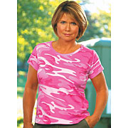 Ladies Fine Jersey Camouflage T-Shirt