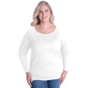Ladies Curvy Slouchy Pullover