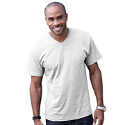 Adult Fine Jersey V-Neck T-Shirt